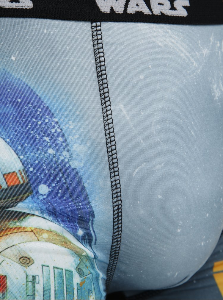 Sada tří pánských boxerek v modré a černé barvě Star Wars Freegun