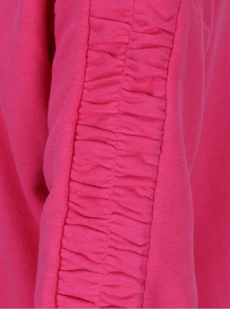 Tmavě růžová mikina se stahováním na rukávech ONLY Winnie