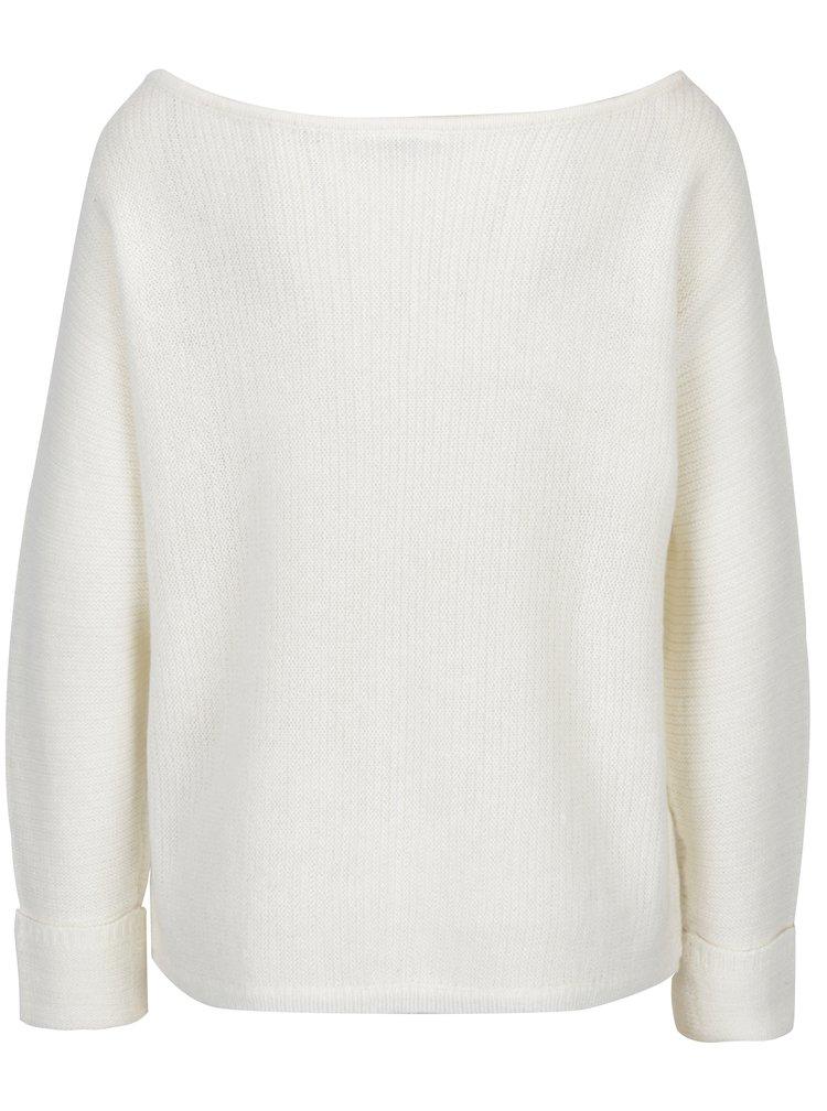 Krémový mohérový svetr s lodičkovým výstřihem Noisy May Abbey