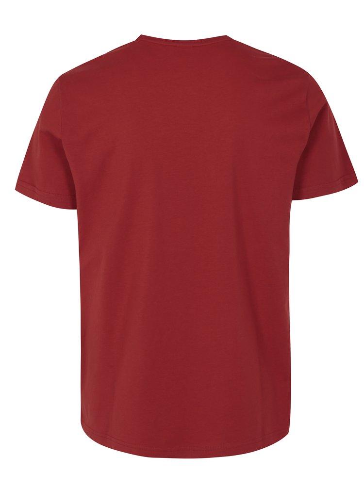 Cihlové pánské regular fit tričko s potiskem s.Oliver
