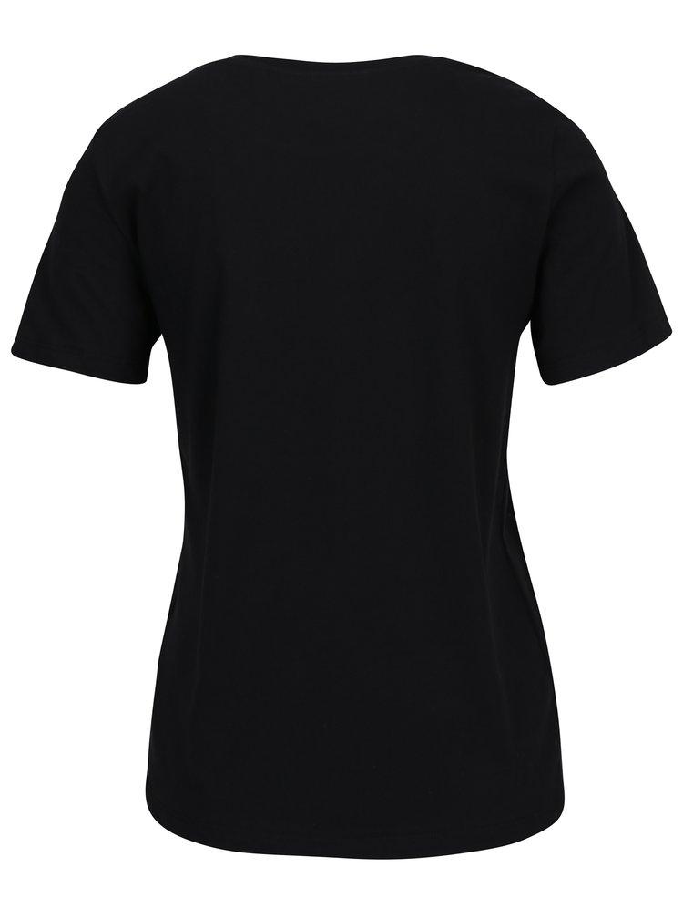 Černé tričko s potiskem VERO MODA History
