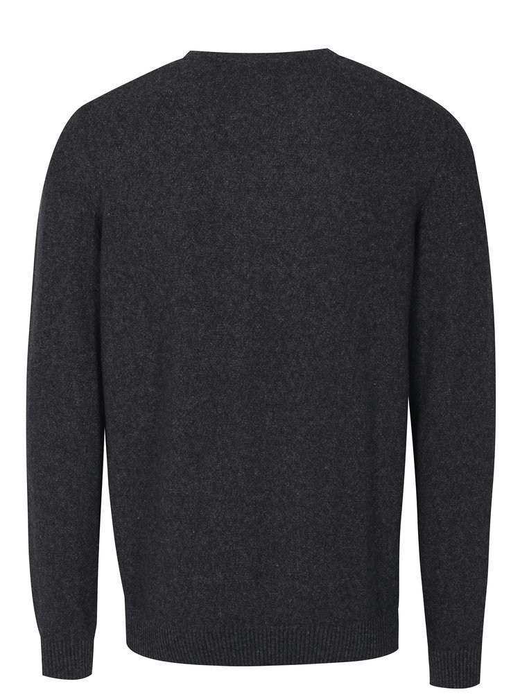 Tmavě šedý pánský svetr s nápisem s.Oliver