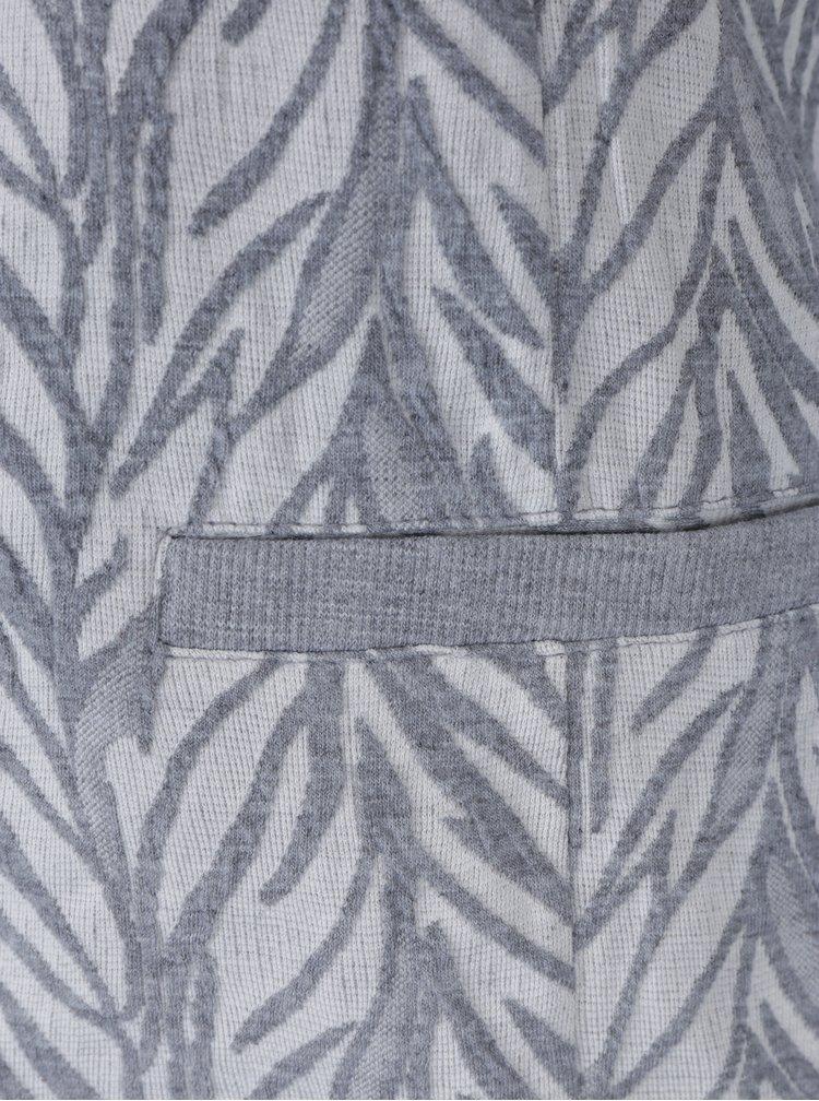 Šedo-krémové vzorované sako VERO MODA Norma
