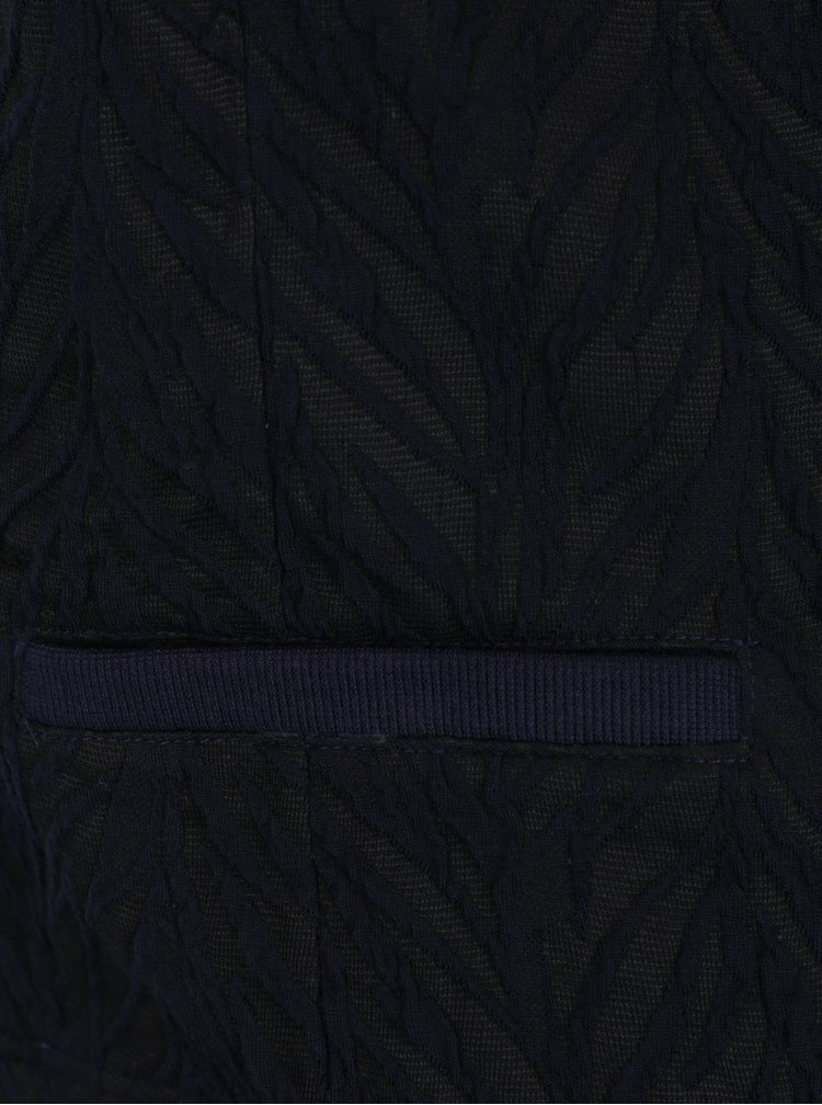 Modro-černé vzorované sako VERO MODA Norma