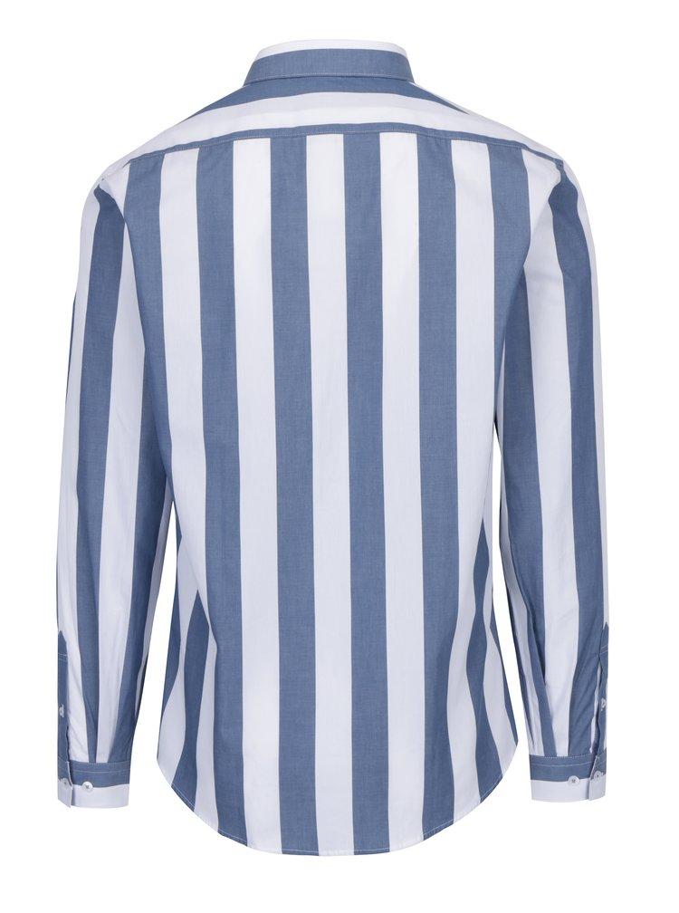 Bílo-modrá pruhovaná košile Lindbergh