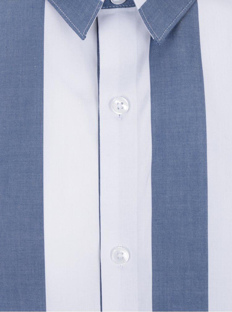 Camasa casual alb&albastru in dungi Lindbergh