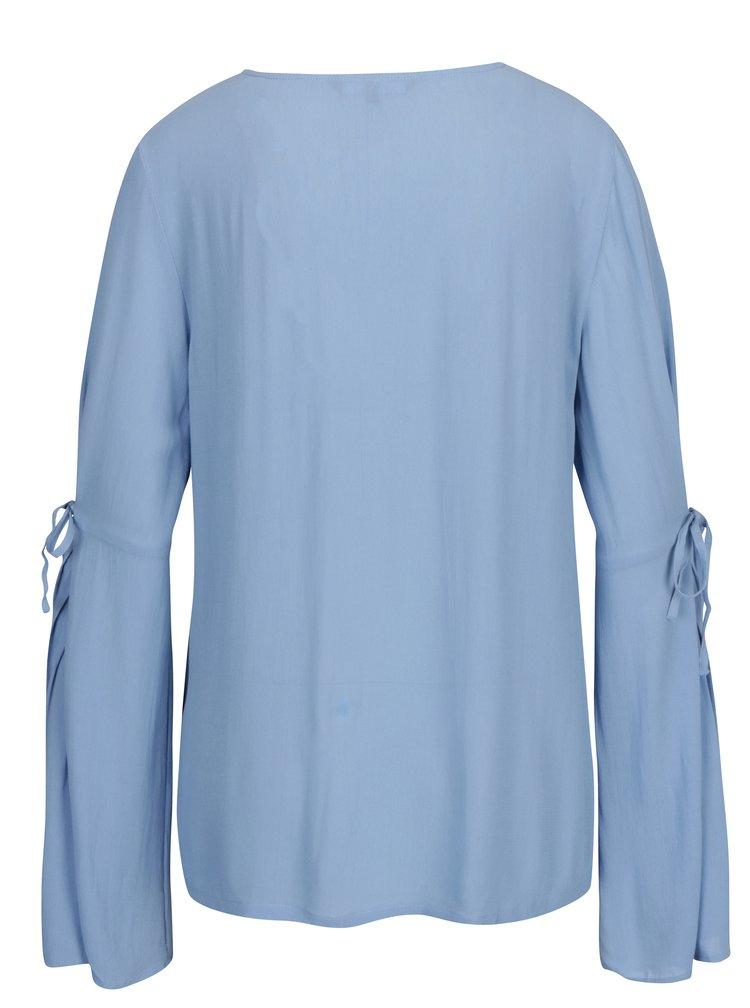 Modrá halenka s dlouhým rukávem VERO MODA Ella