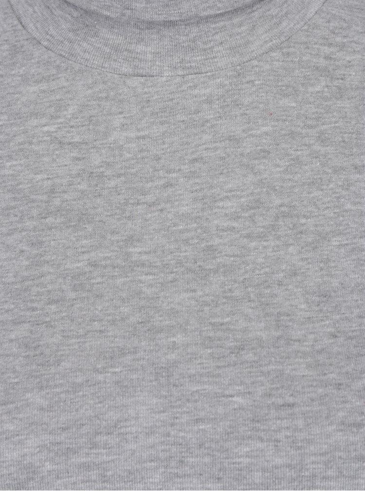 Šedé dámské tričko s rolákem a dlouhým rukávem s.Oliver