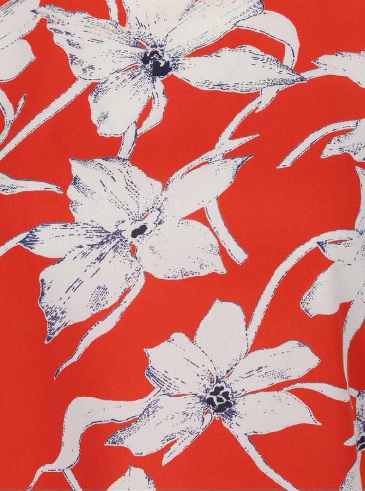 Červená květovaná halenka s 3/4 rukávem VERO MODA July