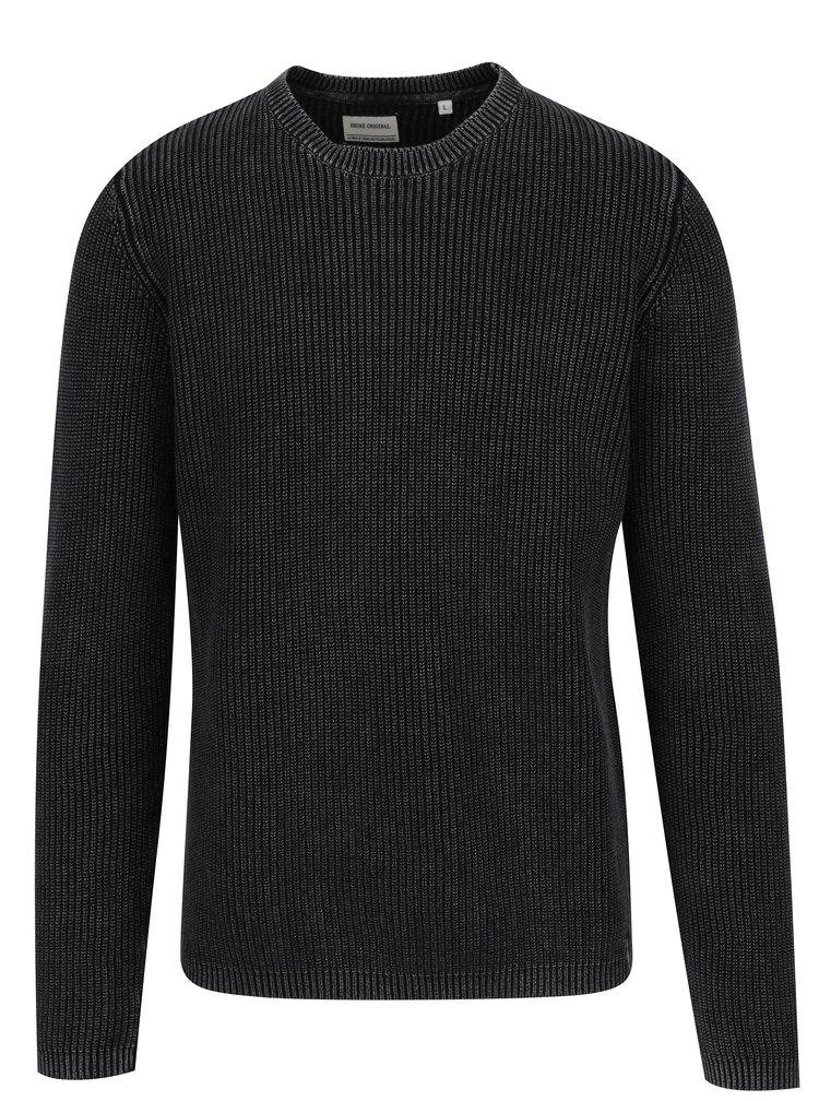 Pulover negru tricotat - Shine Original