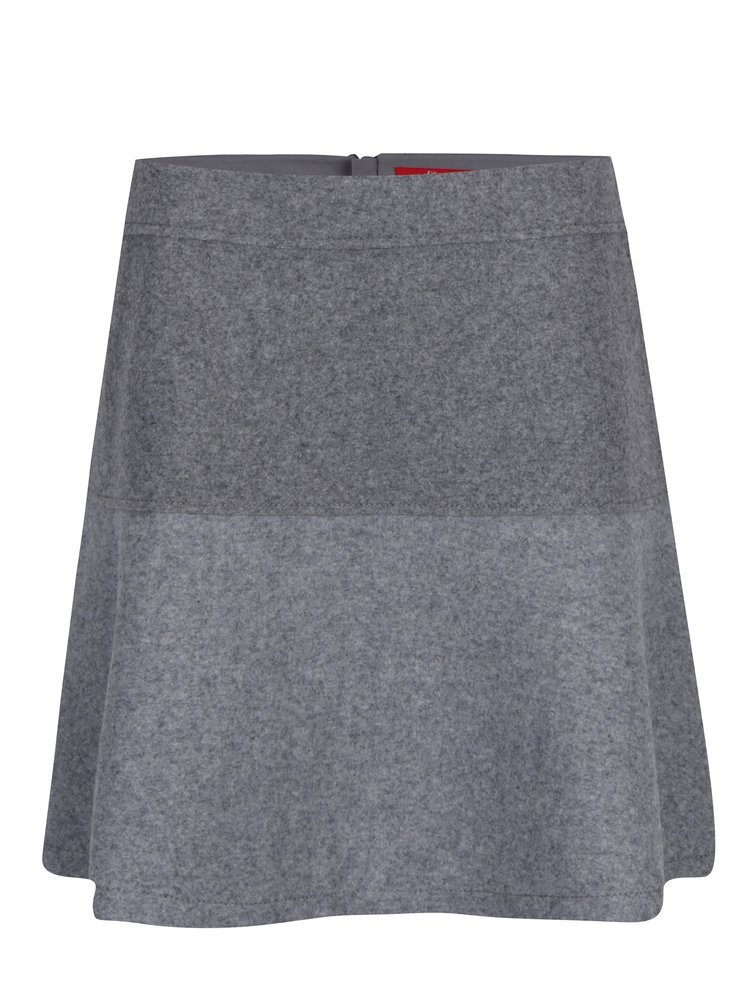 Sivá áčková sukňa s prímesou vlny s.Oliver