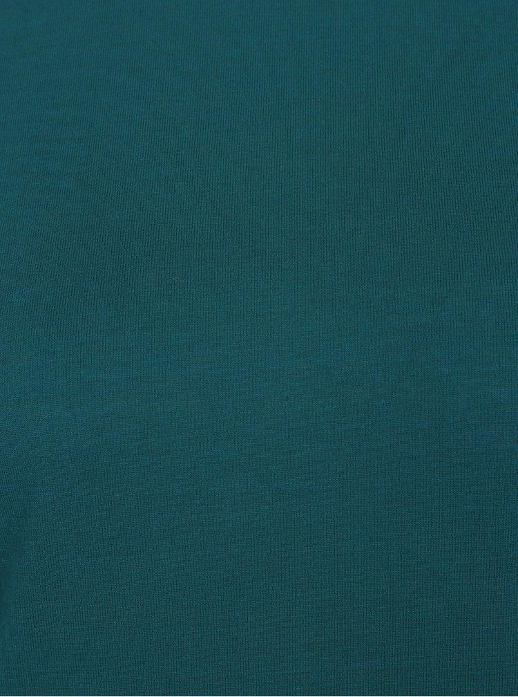 Petrolejové tričko s nízkým rolákem Jacqueline de Yong Spirit