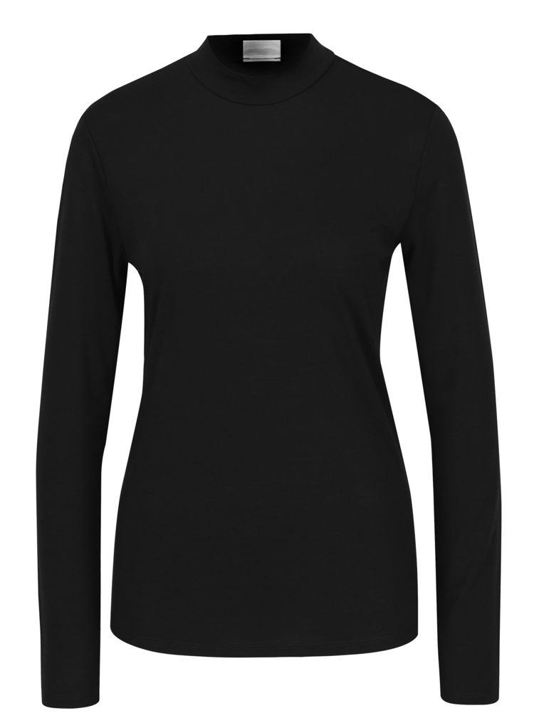 Černé tričko s nízkým rolákem Jacqueline de Yong Spirit