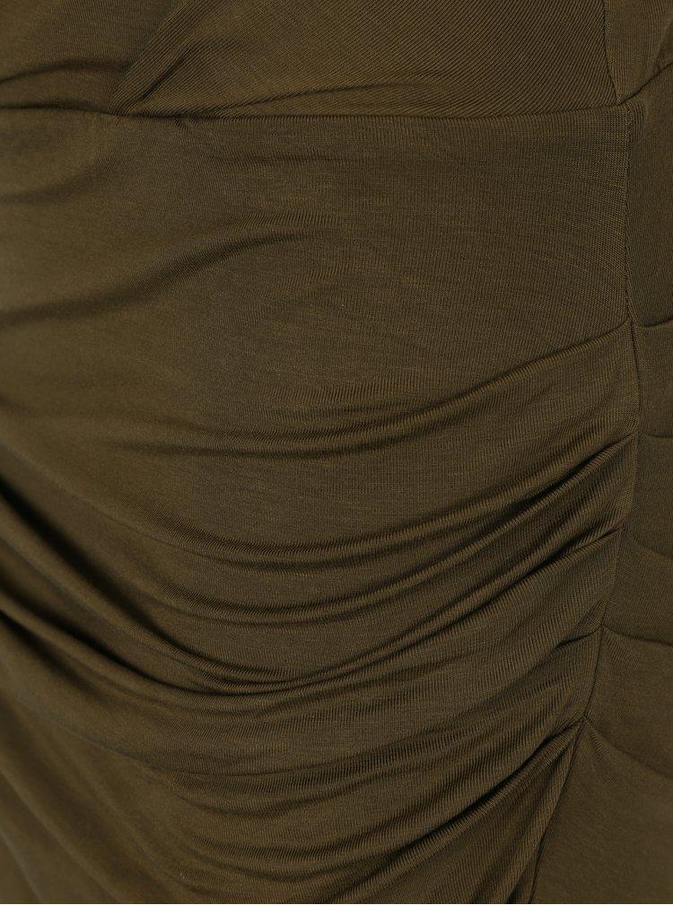 Zelené šaty s řasením VERO MODA Bina