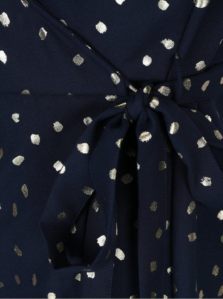 Tmavě modré zavinovací šaty VERO MODA Henna