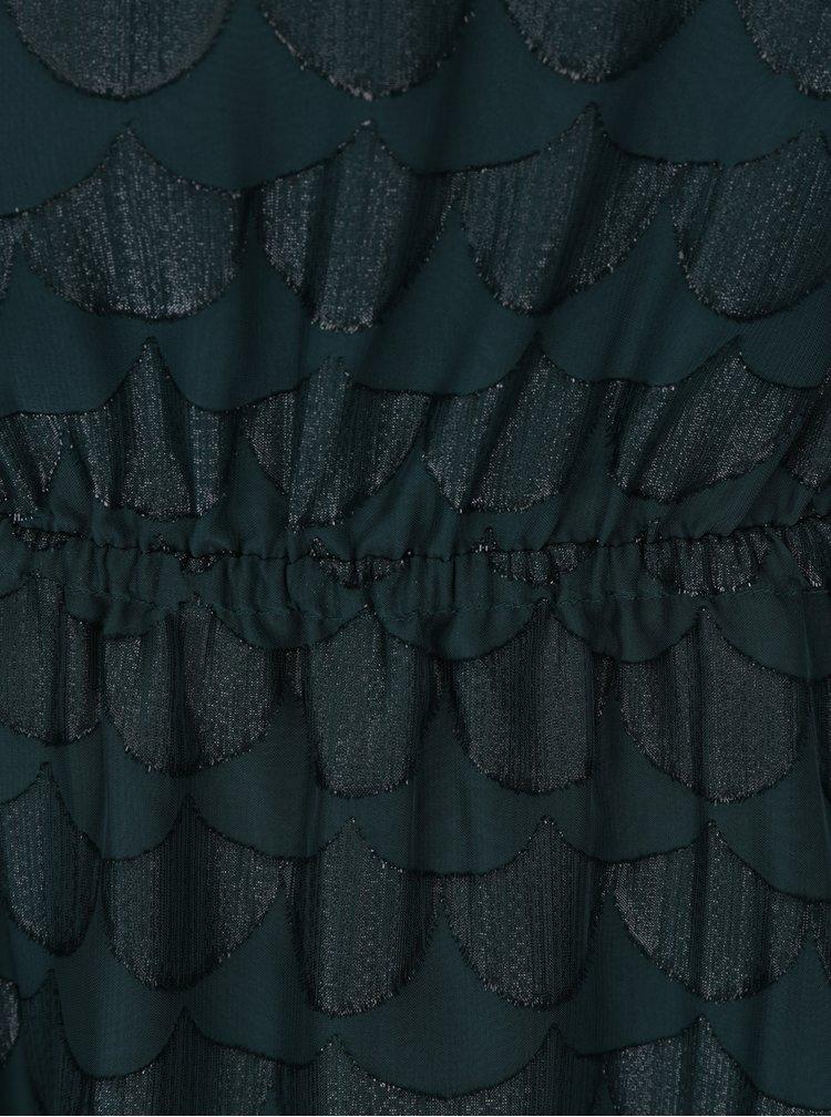 Tmavě zelené vzorované šaty ONLY Antonia