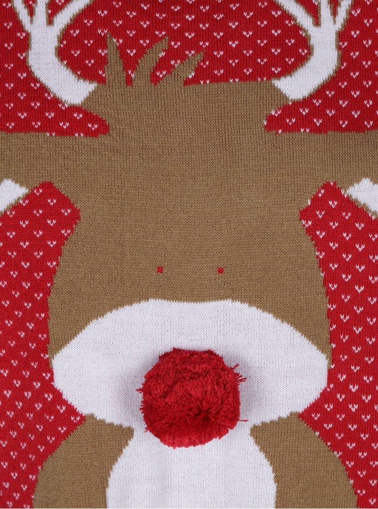 Červený sveter s motívom soba Blend