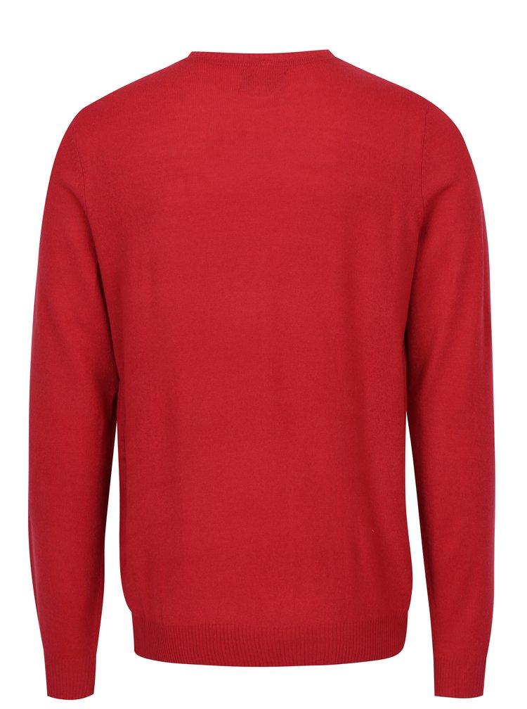 Červený vzorovaný svetr Blend