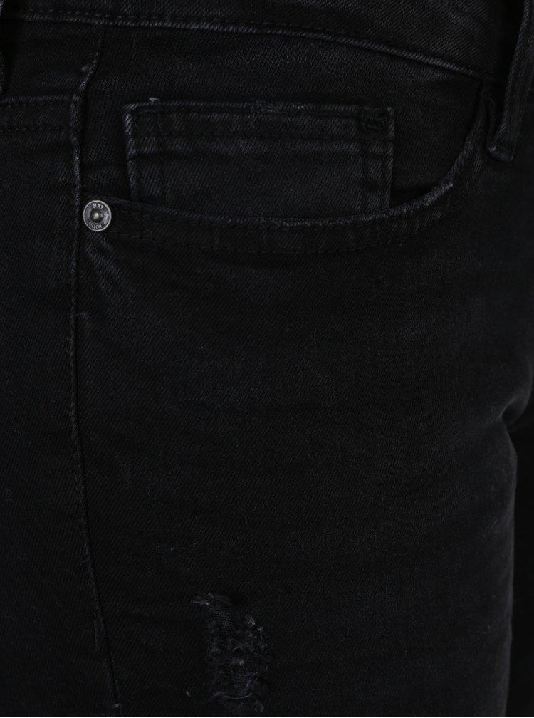 Černé džíny s potrhaným efektem Noisy May Eve