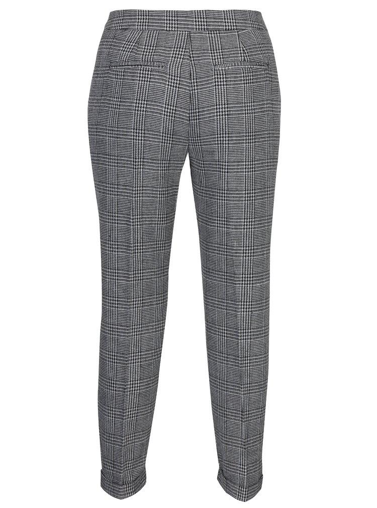 Šedo-černé vzorované kalhoty VERO MODA Joyce
