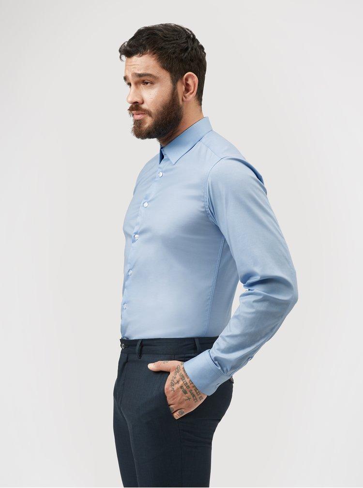 Světle modrá formální slim fit košile odolná proti skvrnám LABFRESH