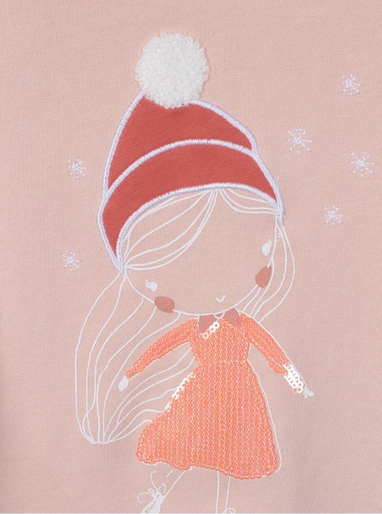 Světle růžová holčičí mikina s potiskem dívky Venere