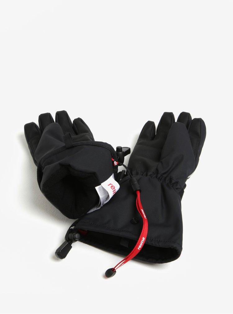 Černé dětské voděodolné funkční zateplené rukavice Reima Saariselka