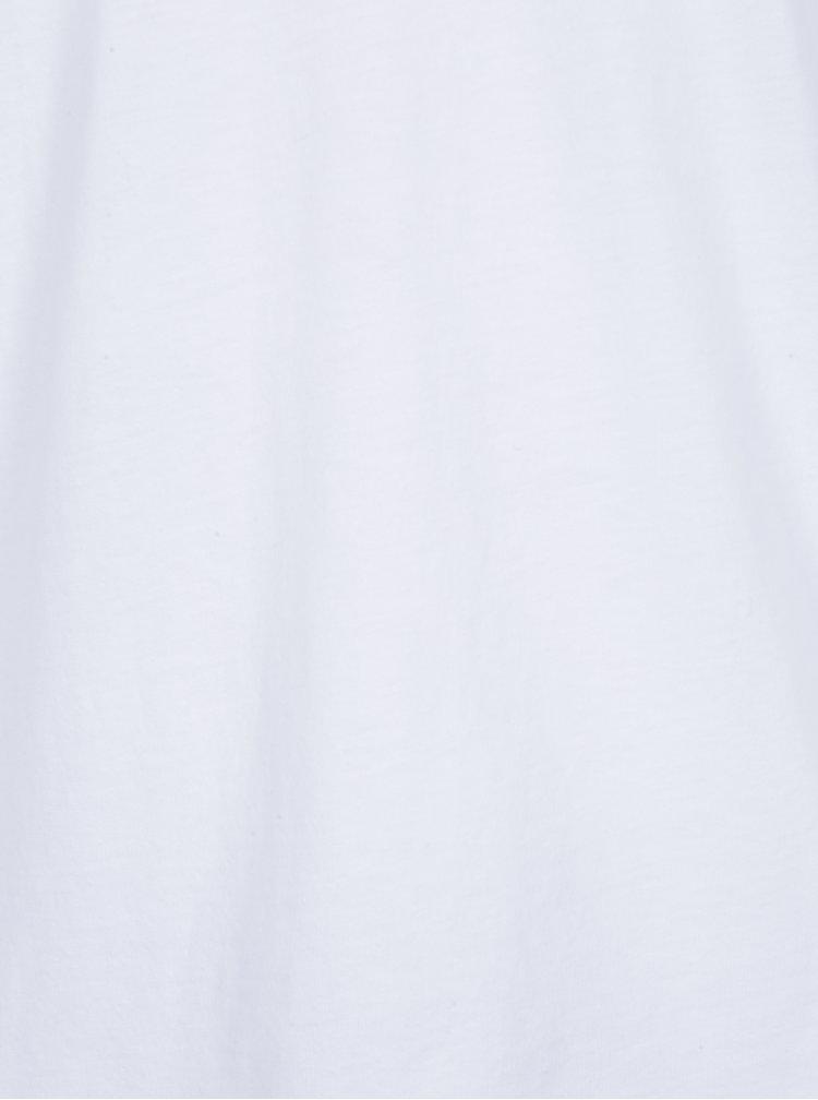 Bílé pánské tričko s véčkovým výstřihem Zagh