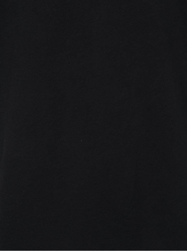 Černé pánské tričko s véčkovým výstřihem Zagh