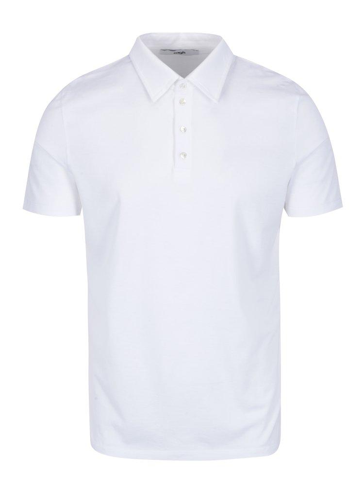 Bílé pánské polo tričko Zagh