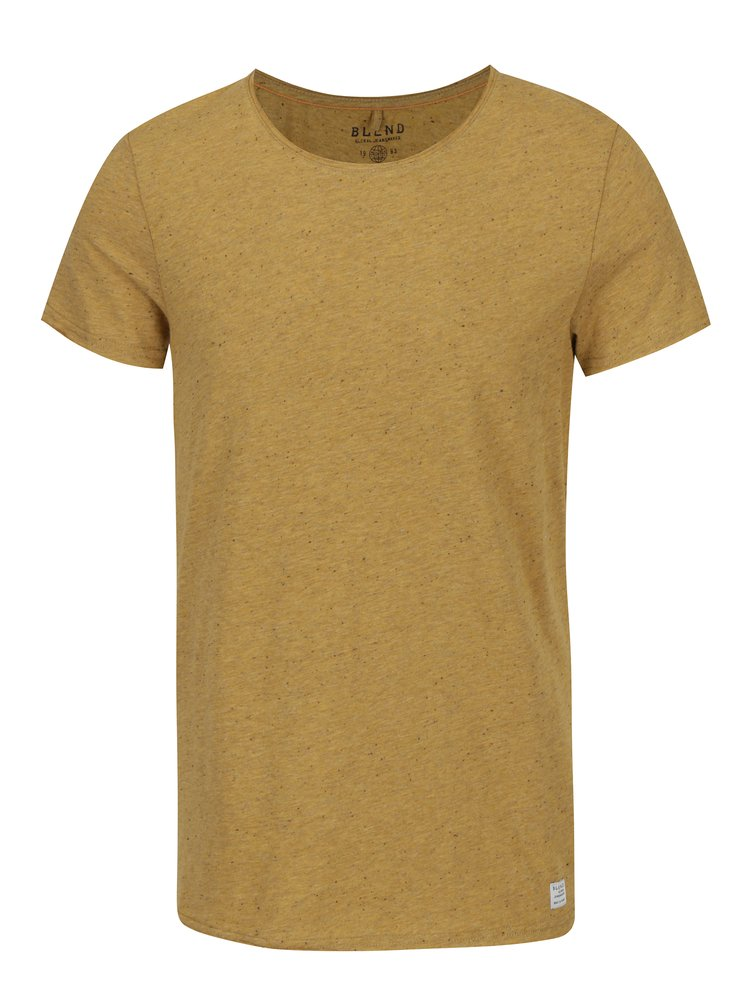 Žluté slim fit tričko Blend