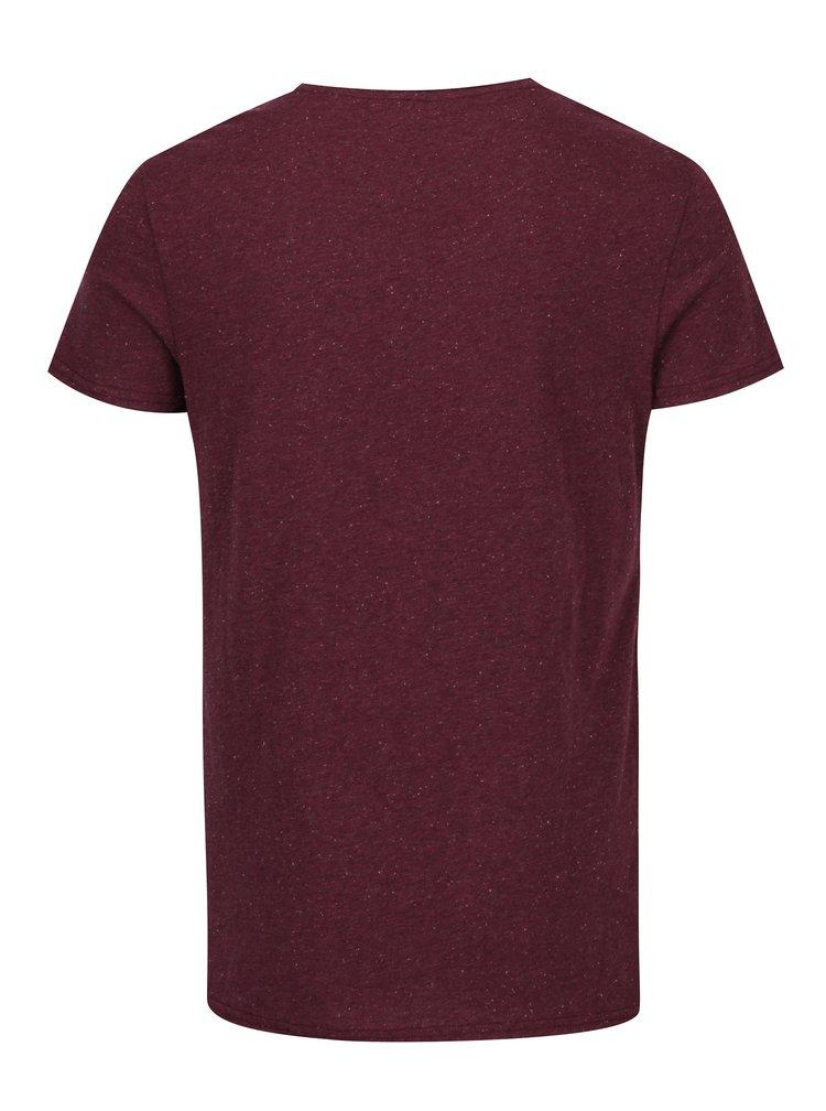 Vínové slim fit tričko Blend