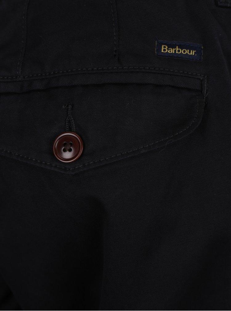 Černé chino regular fit kalhoty Barbour Neuston Twill