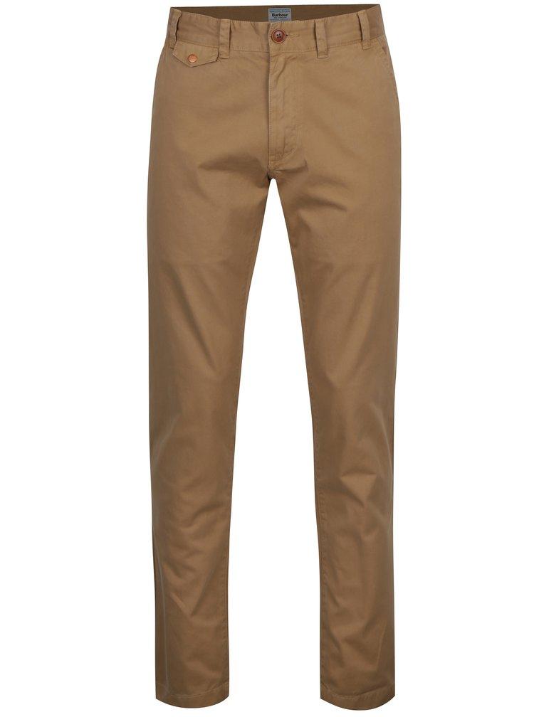 Béžové chino regular fit kalhoty Barbour Neuston Twill