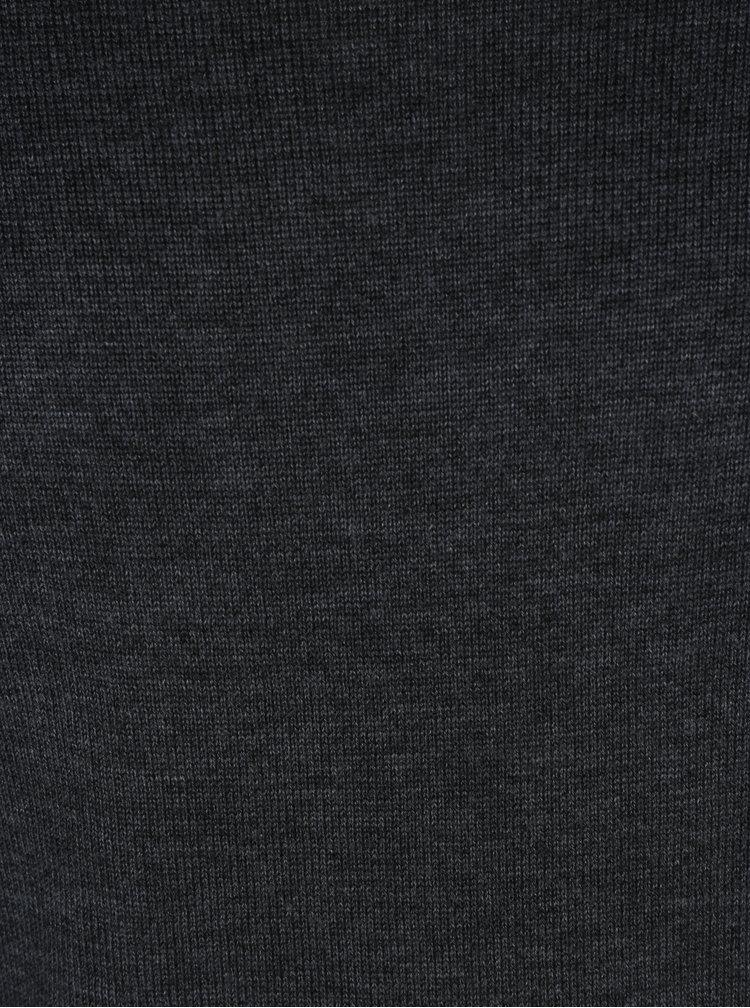 Pulover subtire gri inchis cu decolteu anchior - Blend
