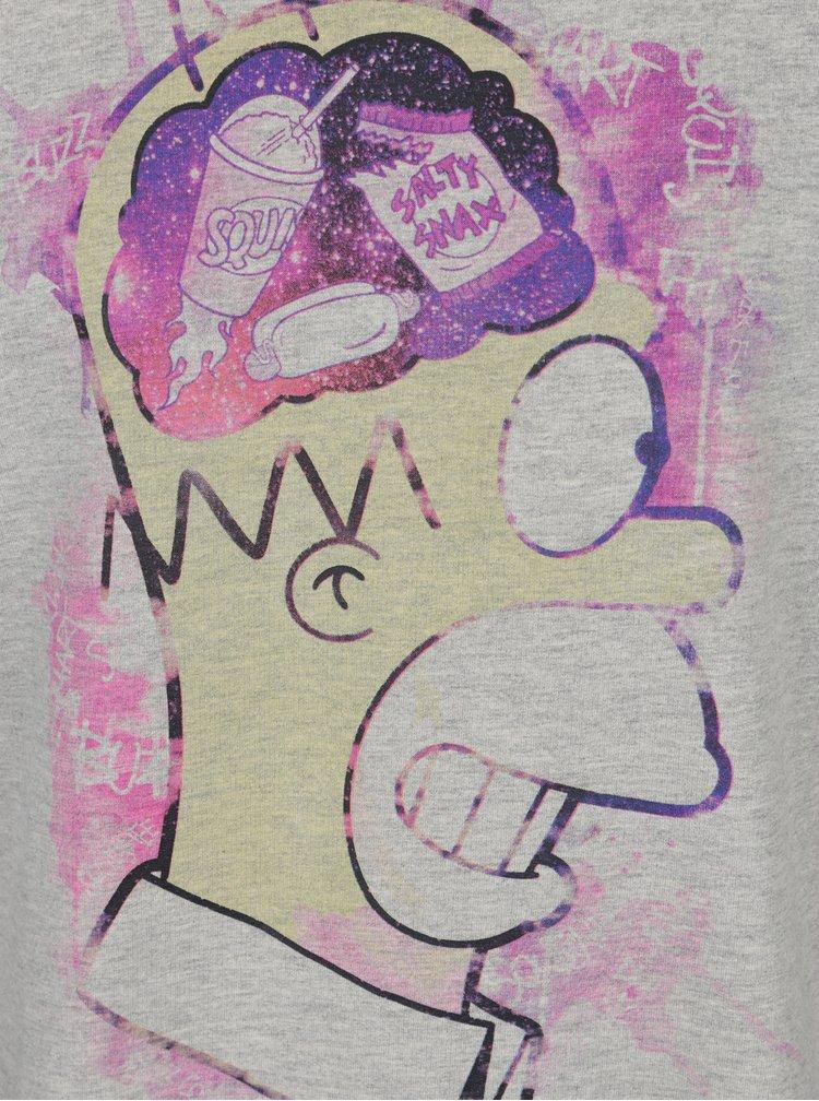 Bluza sport gri melanj cu print Homer Simpson - Blend