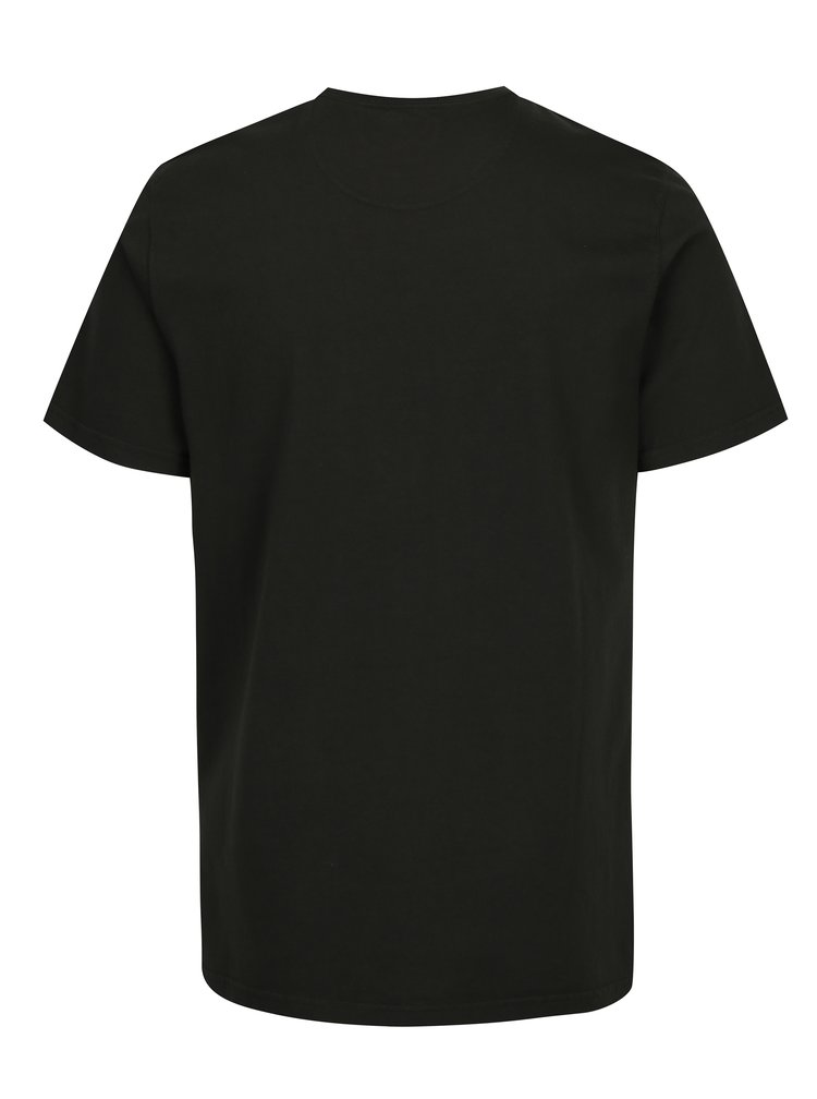 Tmavě zelené tailored fit tričko s potiskem Barbour Walk Tee