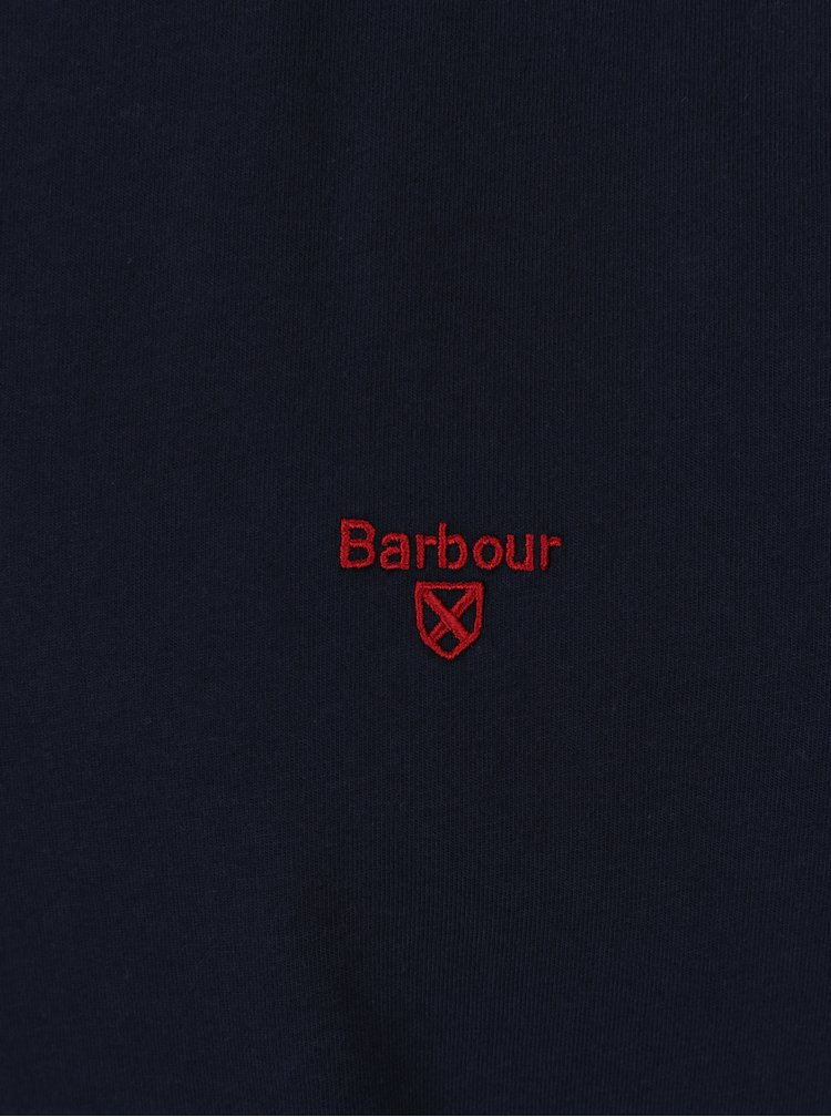 Tricou tailored fit bleumarin cu logo brodat Barbour Sports Tee