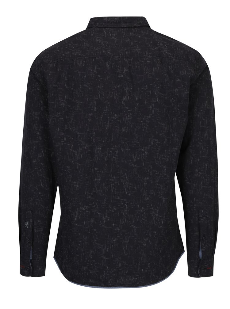 Camasa slim fit gri inchis cu model abstract - Blend