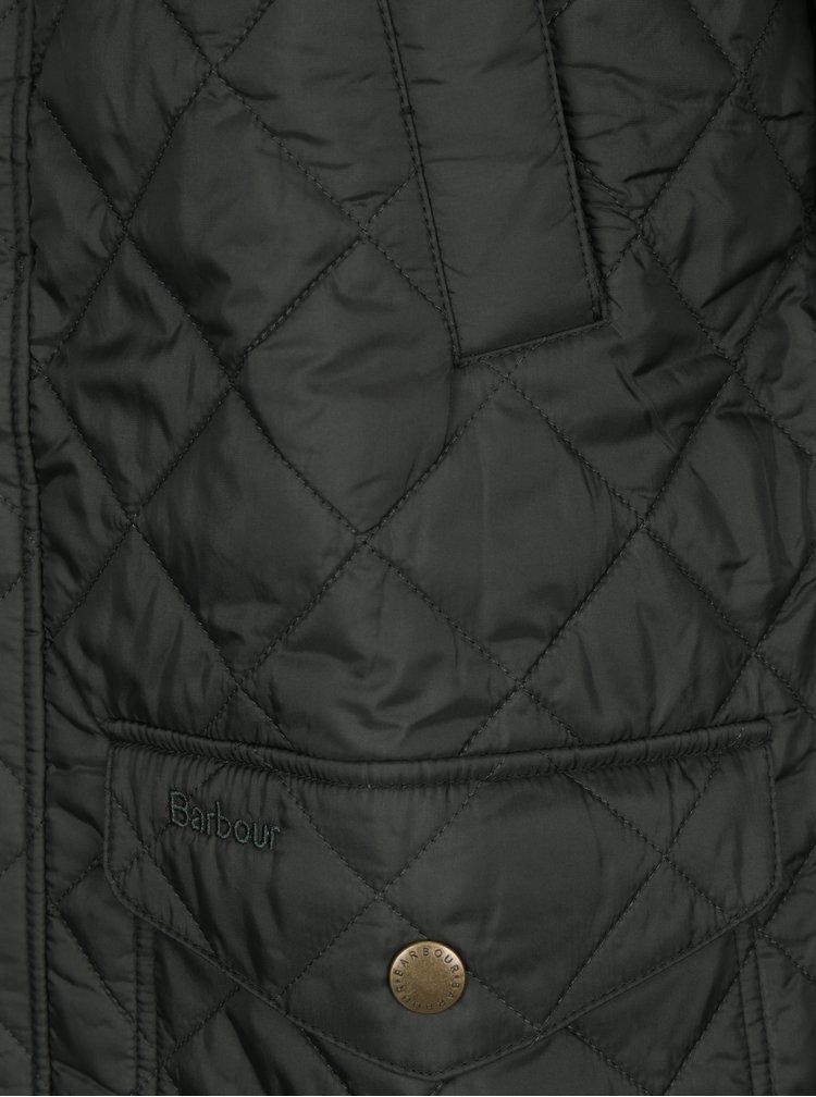 Tmavě zelená pánská prošívaná bunda Barbour Canterdale Quilt