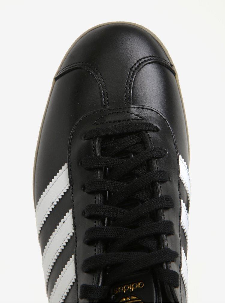 Černé pánské kožené tenisky adidas Originals Gazelle