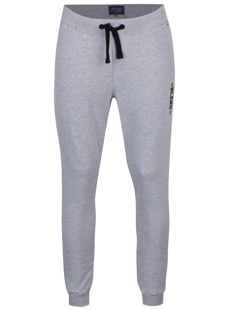 Pantaloni sport gri melanj cu buzunare - Blend