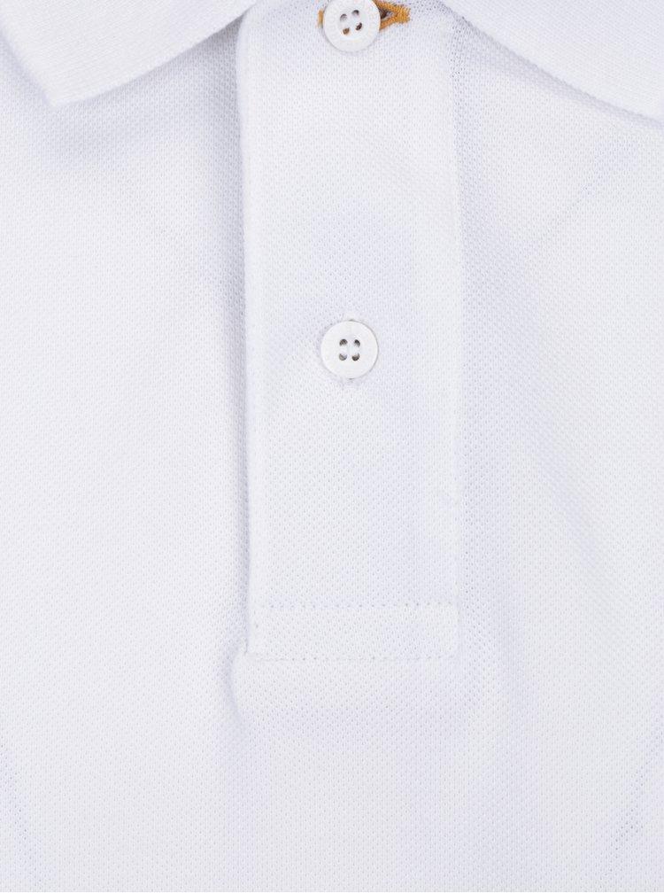 Tricou poloalb cu logo brodat Barbour Tartan Pique