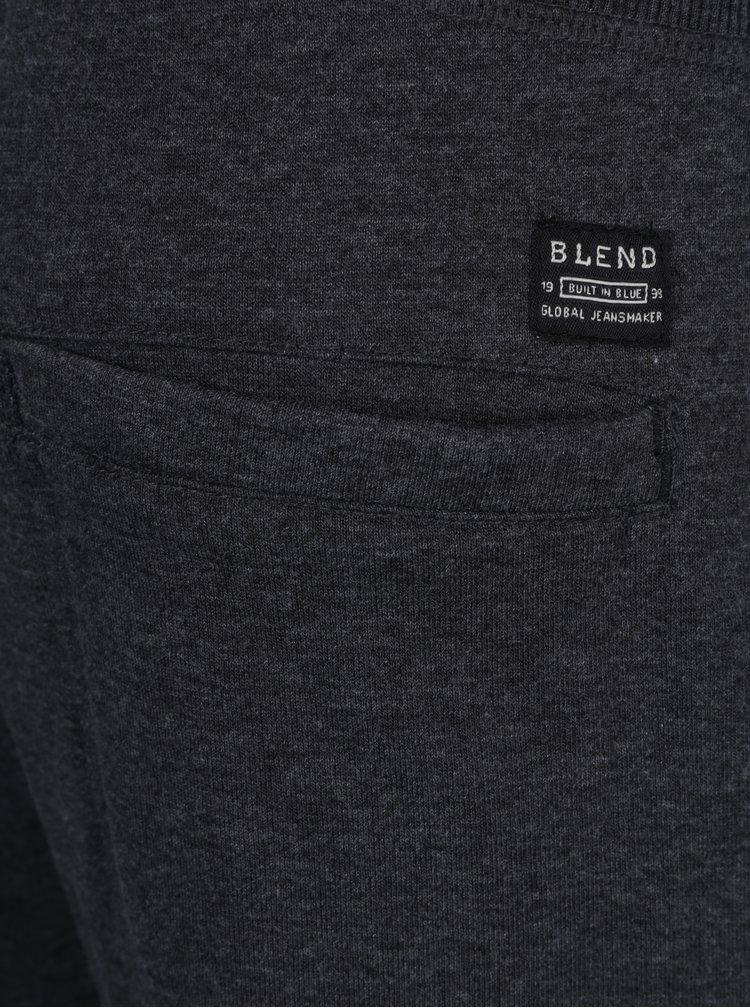 Tmavě šedé žíhané tepláky s kapsami Blend
