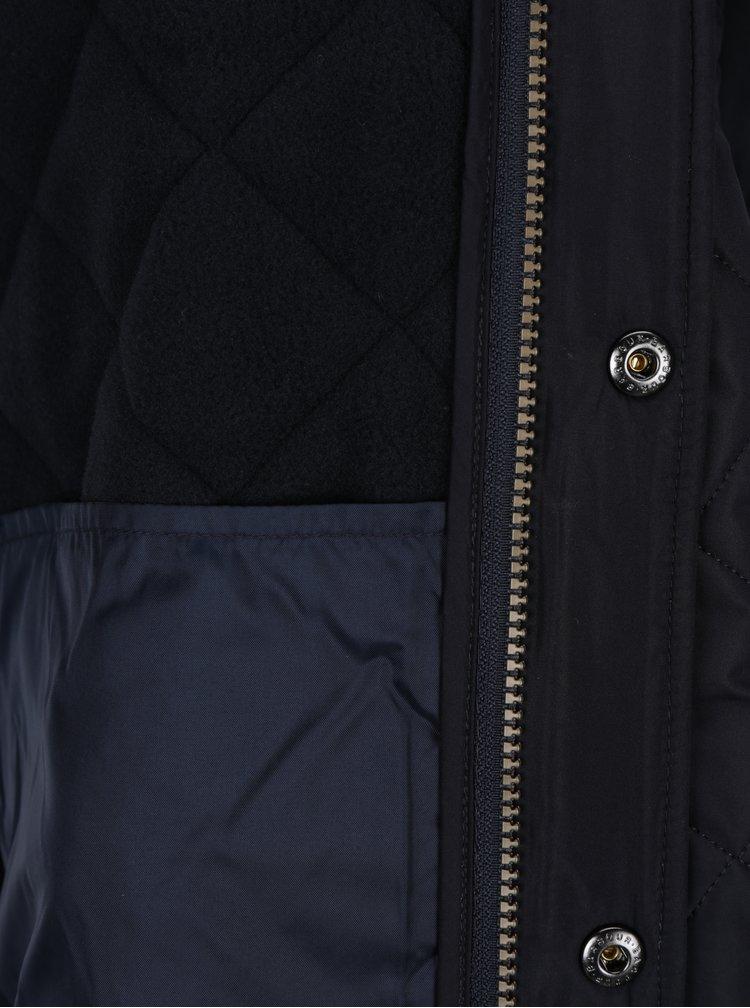 Tmavě modrá pánská prošívaná bunda Barbour Powell Quilt