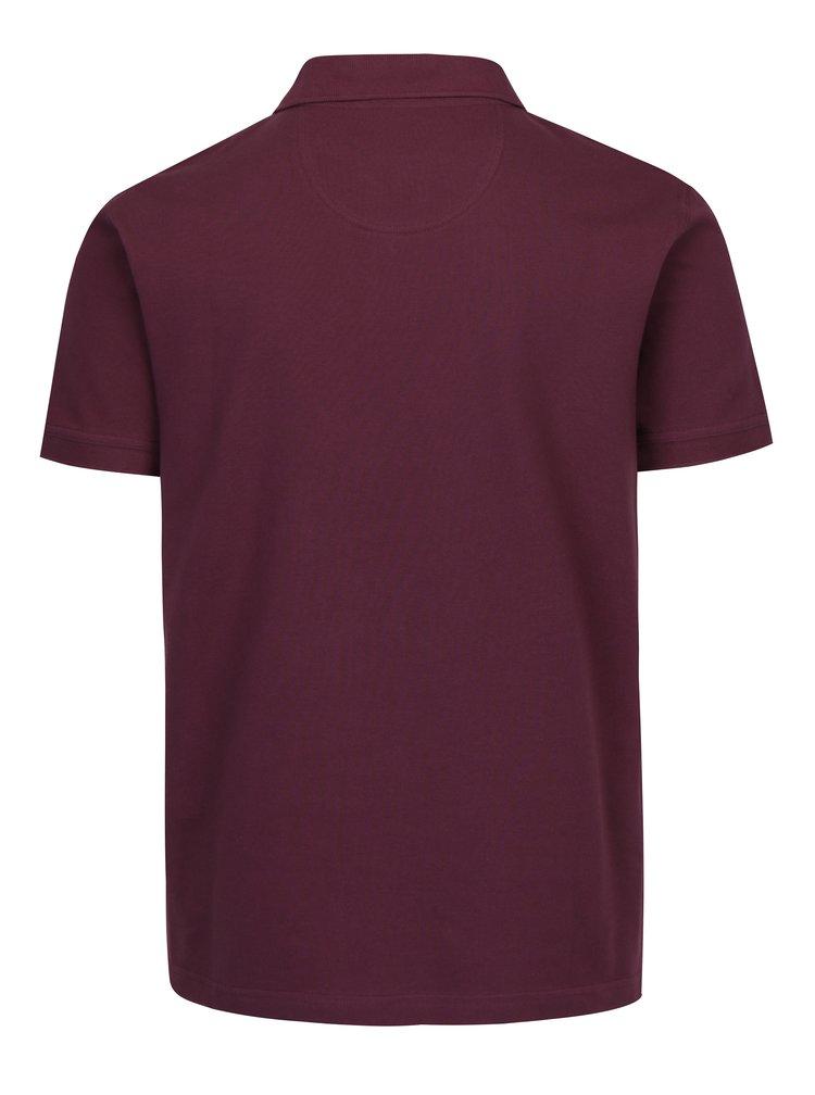 Vínové polo tričko Barbour Tartan Pique