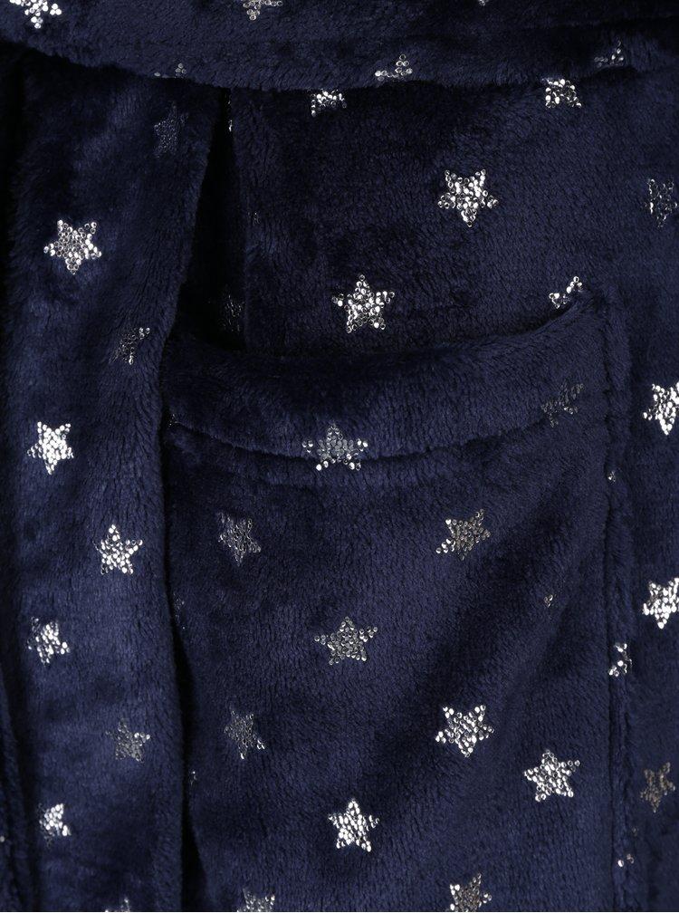 Tmavě modrý župan s motivem hvězd Dorothy Perkins