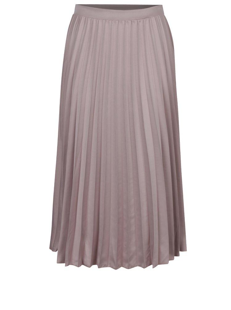 Starorůžová plisovaná midi sukně ZOOT