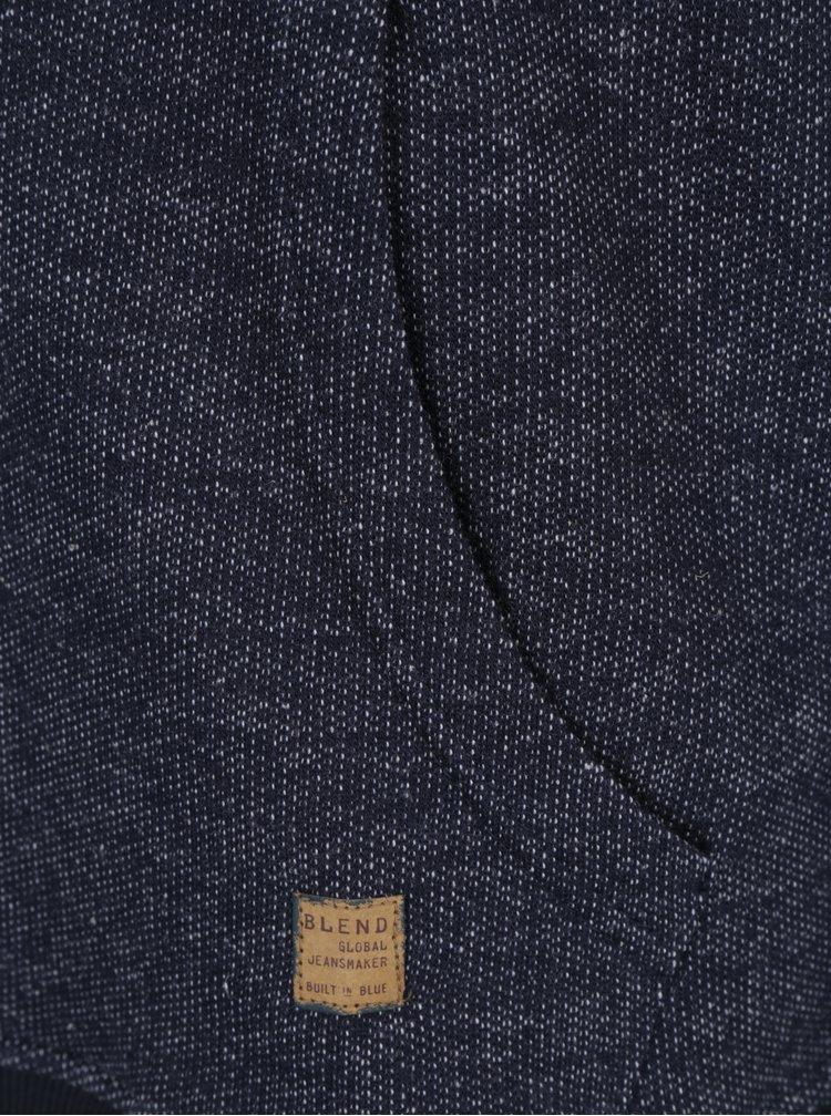 Tmavě modrá slim fit mikina s kapucí Blend
