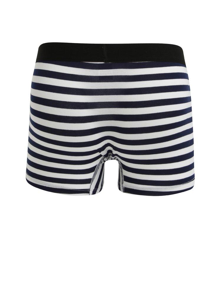 Modro-bílé pánské pruhované boxerky El.Ka Underwear